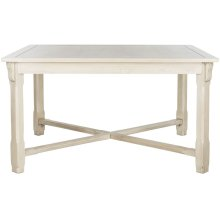 Bleeker Wood Dining Table - White Washed