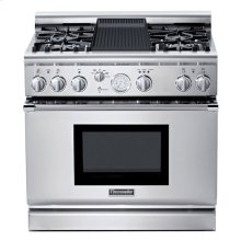 """36"""" PRO GRAND® ALL-GAS LP SELF-CLEANING RANGE WITH 4 STAR® BURNERS (2 W/ EXTRALOW®) AND GRILL"""