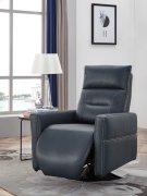 Divani Casa Nashua Modern Blue Leatherette Recliner Chair Product Image