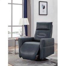 Divani Casa Nashua Modern Blue Leatherette Recliner Chair