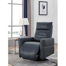 Divani Casa Nashua Modern Blue Leatherette Recliner Chair
