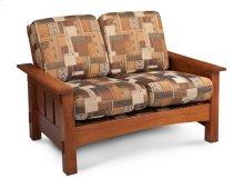 McCoy Loveseat, Leather Cushion Seat