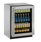 """Modular 3000 Series 24"""" Glass Door Refrigerator With Stainless Frame (lock) Finish and Right-hand Hinged Door Swing (115 Volts / 60 Hz) Product Image"""