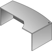 Kenwood Bow Desk - 72x46 Cmptr Corner Right