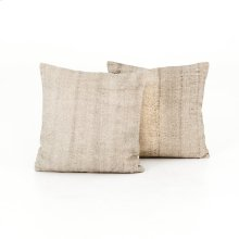 "20x20"" Size Faded Grey Cotton Pillow, Set of 2"