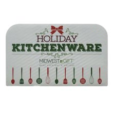 Holiday Kitchenware Sign.