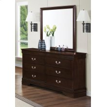 Louis Philippe Square Dresser Mirror