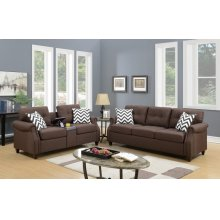 F6413 / Cat.19.p41- 2PCS SOFA SET DARK COFFEE