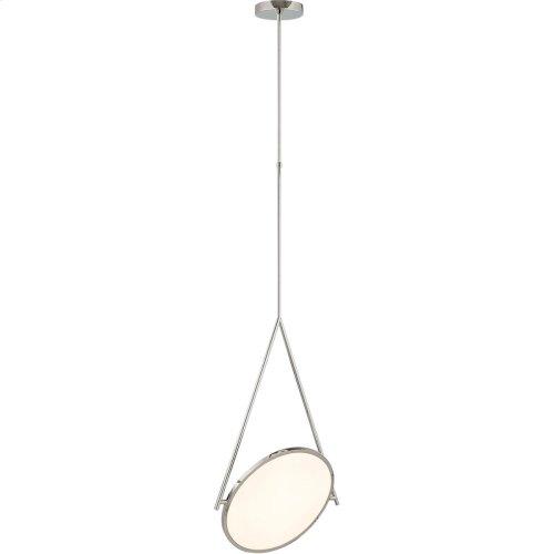 Visual Comfort PB5006PN Peter Bristol Dot Stance LED 19 inch Polished Nickel Pendant Ceiling Light