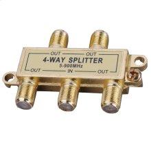 4-Way Signal Splitter with Built-In Grounding Block
