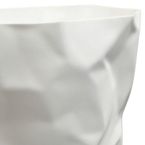 Lava Trash Bin in White