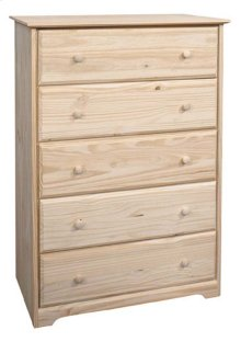 Pine 5 Drawer Chest