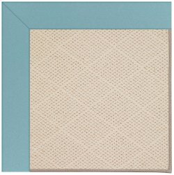 Creative Concepts-White Wicker Canvas Mineral Blue Machine Tufted Rugs