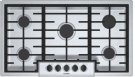 """500 Series, 36"""" Gas Cooktop, 5 Burners, Stainless Steel Product Image"""