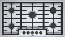 "500 Series, 36"" Gas Cooktop, 5 Burners, Stainless Steel"