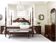 Rice Carved King Bed - Complete