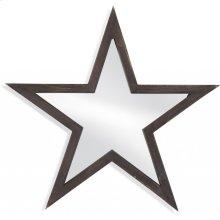 Wood Star Wall Mirror