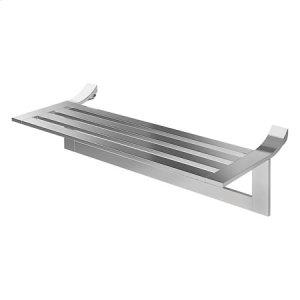 "Satin Nickel 24"" Hotel Shelf with Towel Bar"