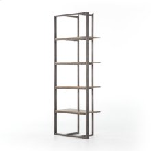 Light Rustic Black Finish Grainger Bookshelf