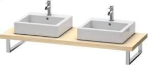 Console For Above-counter Basin And Vanity Basin, Brushed Oak (real Wood Veneer)