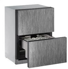 """Modular 3000 Series 24"""" Solid Refrigerator Drawers With Integrated Solid Finish and Drawers Door Swing"""