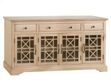 "Craftsman Antique Cream 60"" TV Console"