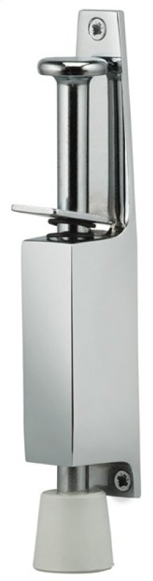 Plunger Door Holder - Solid Brass in US26 (Polished Chrome Plated)