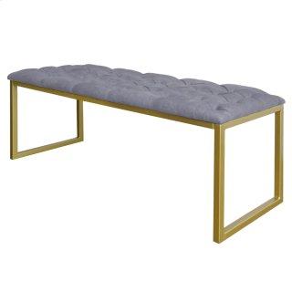 Avril KD Bench, Denim Dove Gray