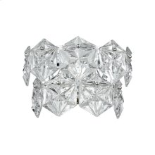 Lavique 1-Light Sconce in Polished Chrome with Clear Crystal