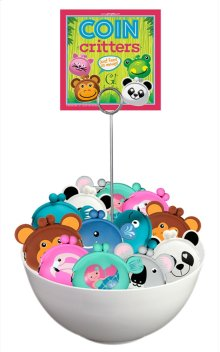 15 pc. assortment. Coin Critters w/ Counter Display.
