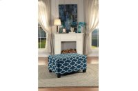 Lift-Top Storage Cocktail Ottoman, Blue Product Image