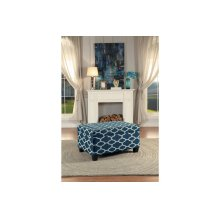 Lift-Top Storage Cocktail Ottoman, Blue