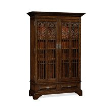 Gothic Tudor Oak Display Cabinet