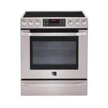 LG Studio - 5.4 cu. ft. Capacity Electric Slide-in Oven Range with Dual True Convection System