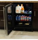"MARVEL 24"" Beverage Center with Convertible Shelves - Stainless Frame Glass Door - Right Hinge"