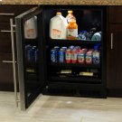"24"" Beverage Center with Convertible Shelves - Panel Overlay Frame Ready Glass Door - Integrated Right Hinge Product Image"