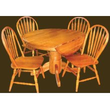 """42"""" Solid Oak DL D.P. Table"""
