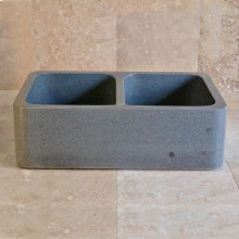 Polished Front Farmhouse Sinks Blue Gray Granite