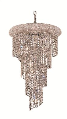 1801 Spiral Collection Hanging Fixture No Neck Chrome Finish