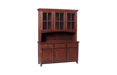 Grand 3 Door Buffet & Half Hutch W/Lattice Doors