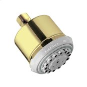 Polished Brass Showerhead 3-Jet, 2.5 GPM
