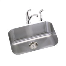 """Dayton Stainless Steel 23-1/2"""" x 18-1/4"""" x 8"""", Single Bowl Undermount Sink and Faucet Kit"""