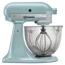 Artisan® Design Series 5 Quart Tilt-Head Stand Mixer with Glass Bowl - Azure Blue