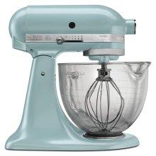 Artisan® Design Series 5 Quart Tilt-Head Stand Mixer with Glass Bowl - Azure Blue