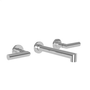 White Wall Mount Lavatory Faucet