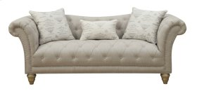 Emerald Home Hutton II Sofa Nailhead With 3 Pillows Off White U3164-00-09