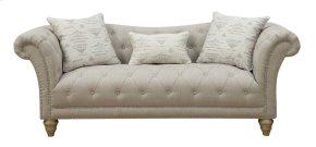 Emerald Home Hutton II Sofa Nailhead With 3 Pillows Off White U3164-00-09