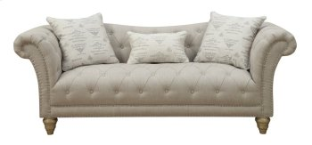 Emerald Home Hutton II Sofa Nailhead With 3 Pillows Off White U3164-00-09 Product Image