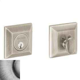 Matte Antique Nickel Squared Deadbolt