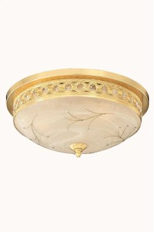 4720 Italia Collection Flush Mount Gold Finish (Swarovski Elements Crystal Clear)